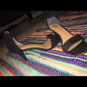 Black 1.5 inch heels